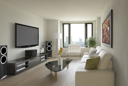 City Tower - Living Room - Render - Stereo